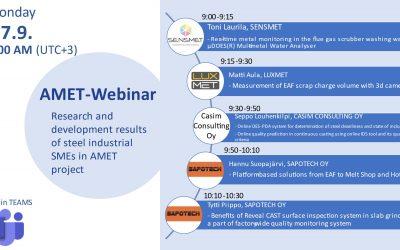 Measuring EAF Scrap Charge volumes – Luxmet presents at AMET -Webinar 27.9.